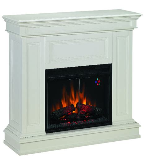 White Electric Corner Fireplace by Electric Fireplaces From Portablefireplace