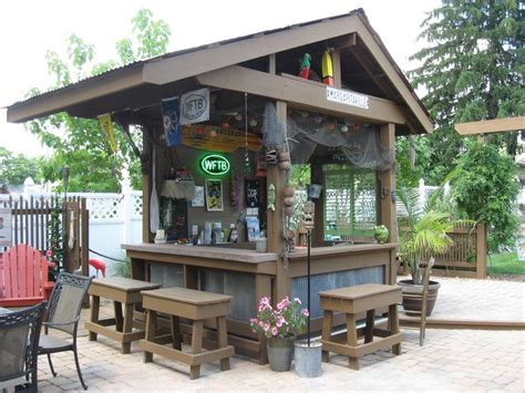 backyard saloon my backyard tiki bar outdoor kitchen pinterest