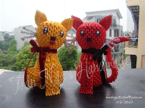 How To Make A 3d Origami Cat - 3d origami cats jpg album nga 3d origami