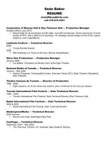 Event Resume Template by Event Manager Resume Sle Entertainment And Venue