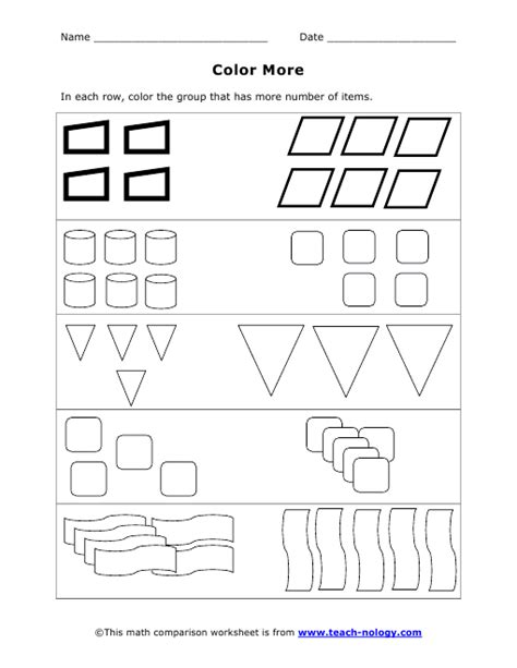 pattern recognition math worksheets color more