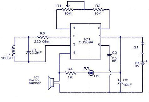 metal detector circuit diagram electronic hobby circuits simple metal detector circuit