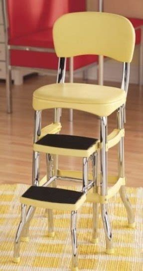 Retro Kitchen Step Stool Yellow by Cosco Step Stools Foter