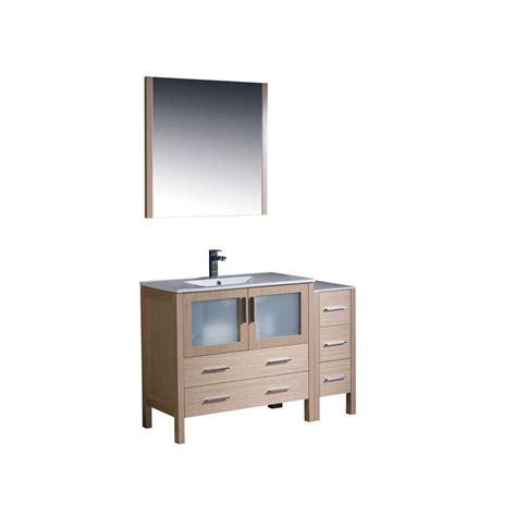 Oak Vanity Light Fresca Torino 48 In Vanity In Light Oak With Ceramic Vanity Top In White With White Basin And
