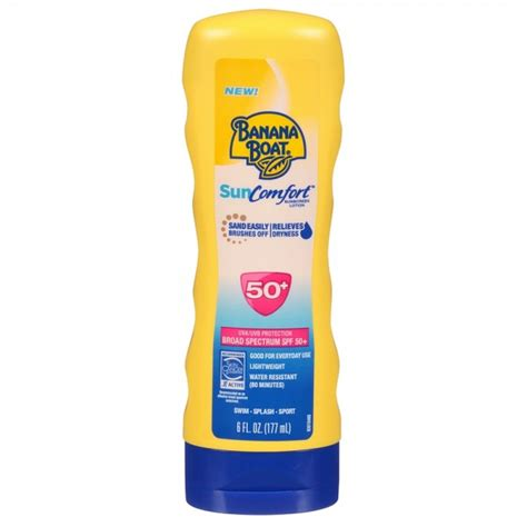 banana boat unscented sunscreen banana boat sun comfort sunscreen lotion spf 50 6 oz