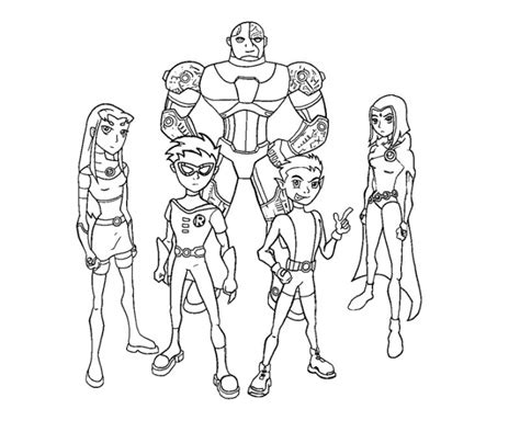 Teen Titans Coloring Page 1 sketch template