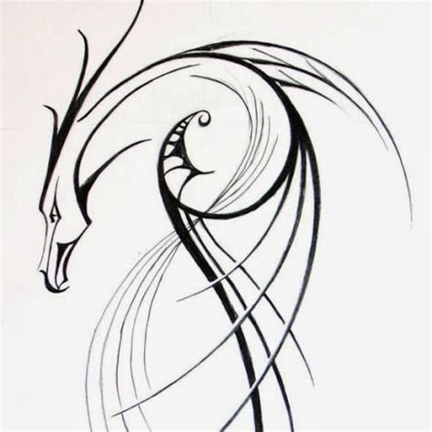 simple tribal dragon tattoo design jpg