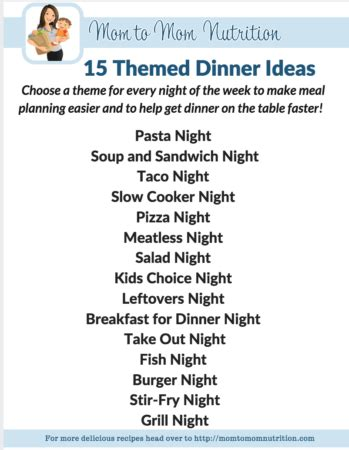theme night names 15 themed dinner ideas my favorite way to meal plan