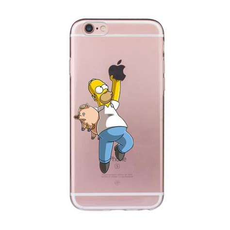 coque silicone iphone  homer simpson cochon achat