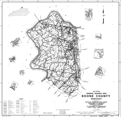 boone county schools state and county maps of kentucky