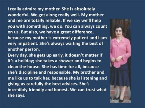 Who Do I Admire Essay by The Person Who I Admire