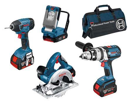 bosch 18v kits bosch bag 4rs 18v 4 piece cordless tool kit with 3 x 4 0ah