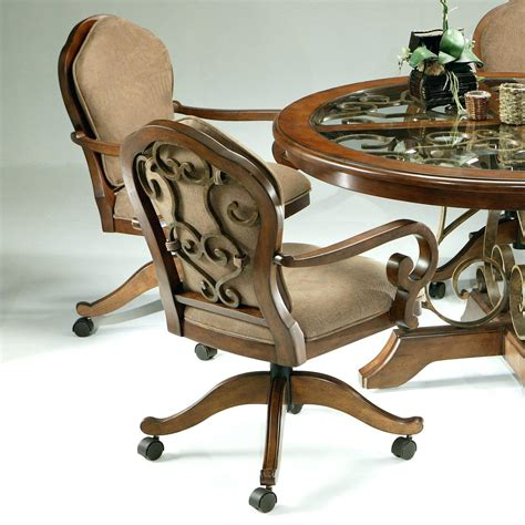dining room chairs on wheels casual dining chairs with casters table design images