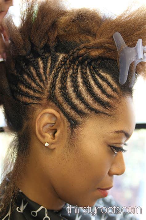 hair bumps from braids braided bump hairstyle