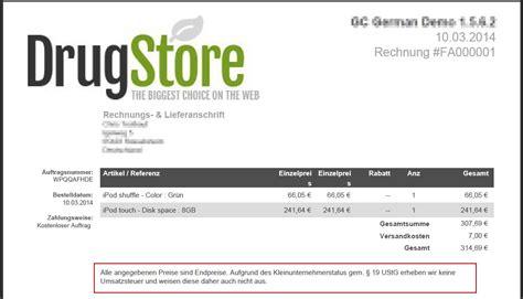 Rechnung Für Kleinunternehmer Gem 19 Ustg Einbau Der Kleinunternehmerregelung In Prestashop Gc German