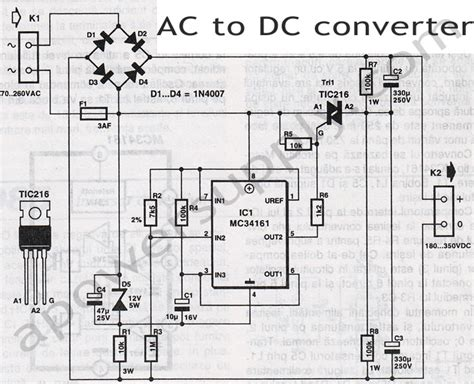 diagram for ac to dc power supply schematic get free