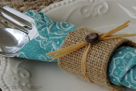 Make Paper Napkin Rings - diy burlap napkin rings burlapkitchen