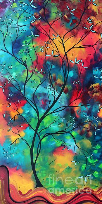 colorful painting bold rich colorful landscape painting original colored