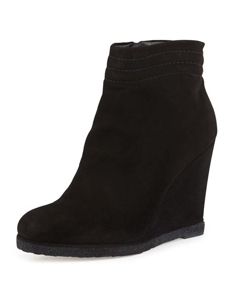 Wedges Boot 1 lyst stuart weitzman meridian wedge ankle boot in black