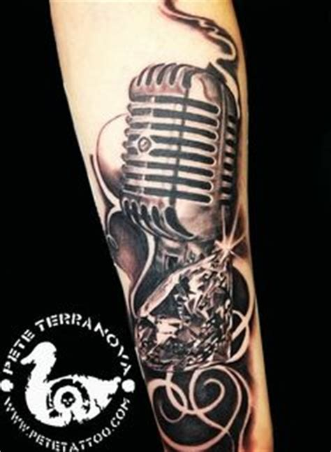 tattoo microphone and guitar 1000 images about old school mic tattoo on pinterest