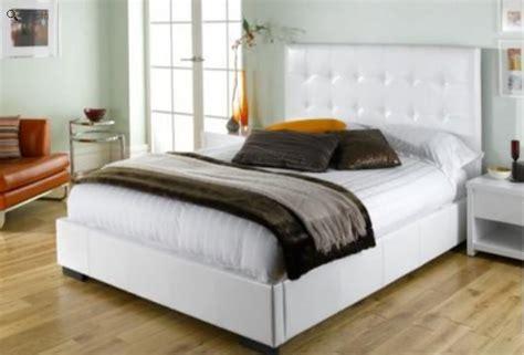 white leather bed frame white leather bed frame homehighlight co uk