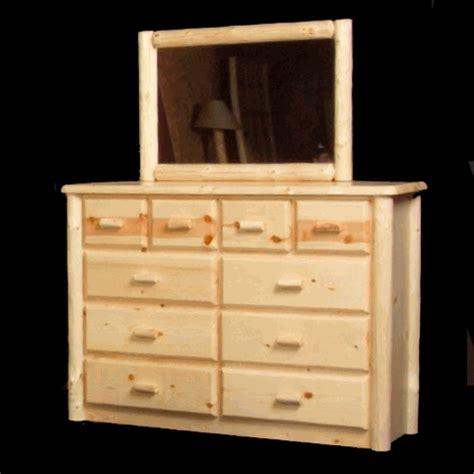 Pine Log Dresser by Viking Northwoods 6 Drawer Pine Log Dresser