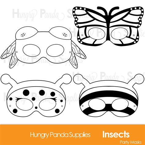 printable bee mask template insects printable coloring masks insect masks ladybug mask