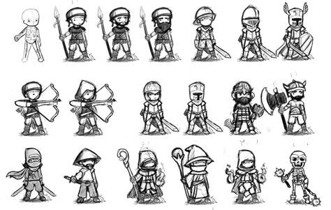 Rpg Character Drawings artstation rpg character classes sketches meville