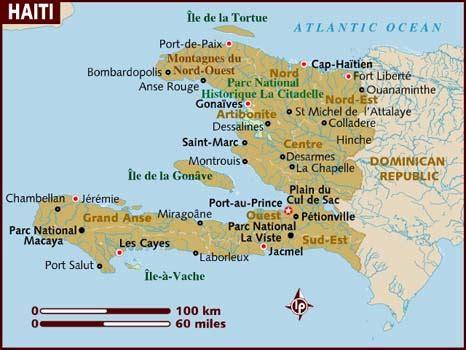 haiti map of cities map of haiti cities