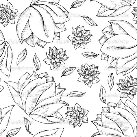 draw a pattern using flower as motif flower patterns drawing drawing art library