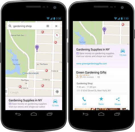 android ads maps for android and ios gets relevant ads at the bottom