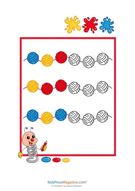 abc pattern for kindergarten color pattern worksheet kindergarten abc pattern