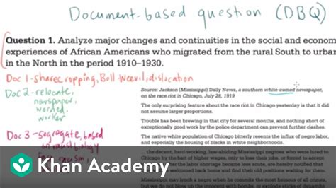 dbq essay on articles of confederation ap history essay about the articles of confederation ap us history dbq exle 2 the historian s toolkit us history khan academy youtube