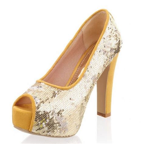 sequin high heel shoes sequin high heels pumps wedding shoes 2014