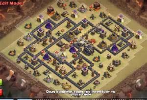 Coc th9 war base anti 3 star town hall 9 war base anti 3 star