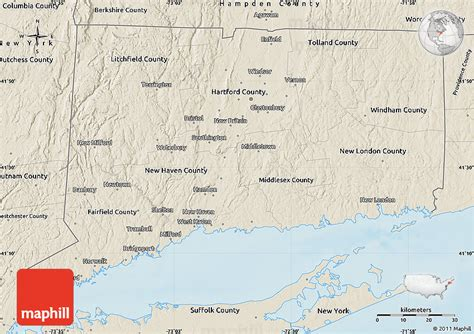 map usa states connecticut shaded relief map of connecticut