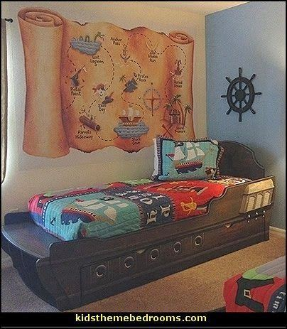 pirate s map wall murals pirates theme bedroom decorating