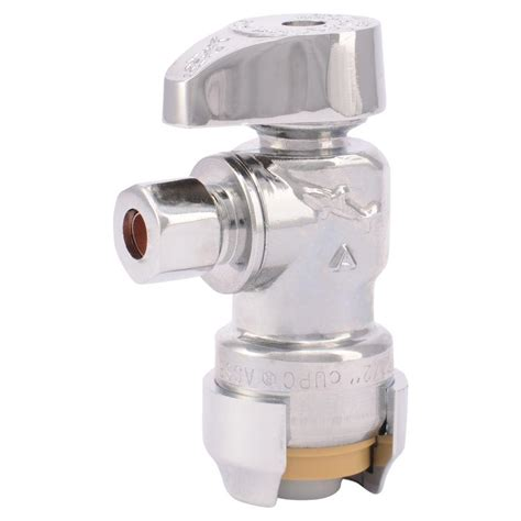 shut off valve lowes sharkbite 1 2 in chrome plated brass push to connect x 1