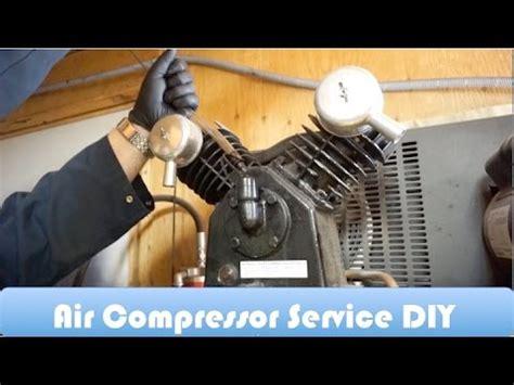 air compressor service  maintenance diy youtube