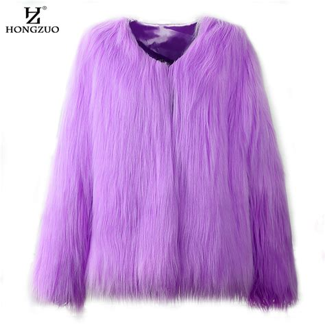 warm purple hongzuo 2017 new women ᗐ fur fur coat fluffy thick 웃 유