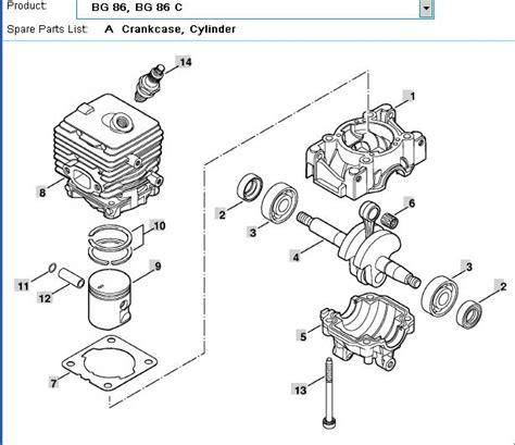 stihl bg 86 blower parts diagram stihl bg 86 parts diagram engine diagram and wiring diagram