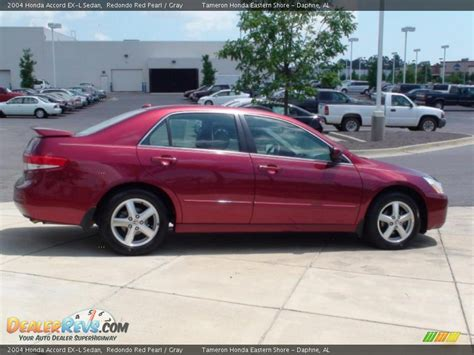 2004 honda accord ex l sedan redondo red pearl gray