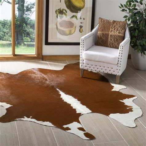 Safavieh Cowhide Rugs - rug coh211a cowhide area rugs by safavieh
