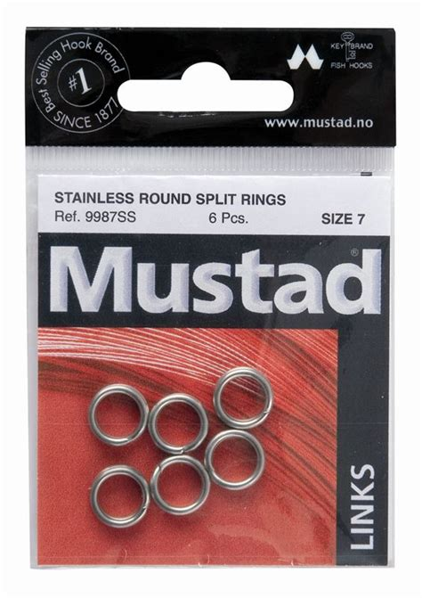 Mustad Stainless Split Rings mustad oval split rings 163 1 15