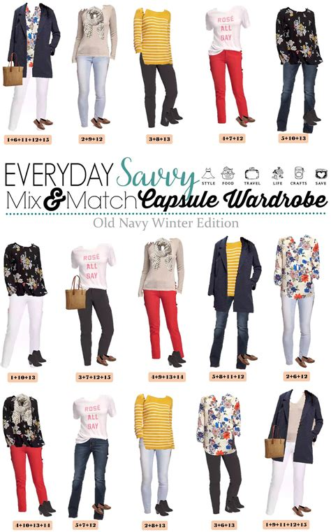 navy winter to capsule wardrobe