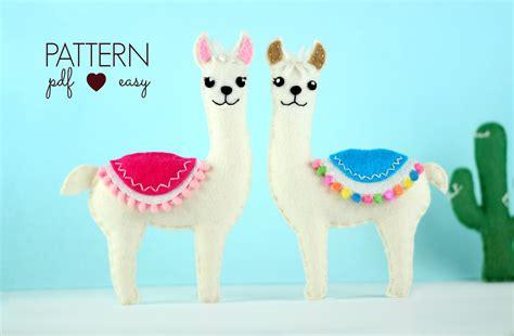 Felt Llama Pattern | felt pattern llama sewing pattern felt stuffed animal