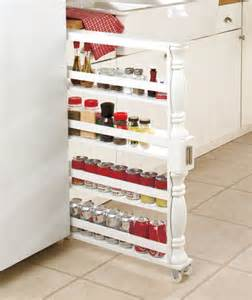 Kitchen Cabinet Racks Storage by Rolling Slim Can Amp Spice Rack Holder Kitchen Storage