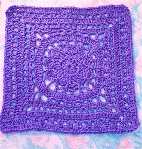 crochet pattern in square smoothfox crochet and knit smoothfox s amethyst square 12x12