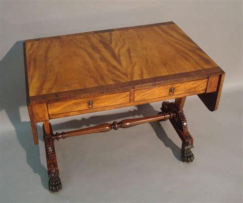 Regency Desk Fan 9 In Zds09 regency satin and rosewood sofa table in the manner of for sale at 1stdibs