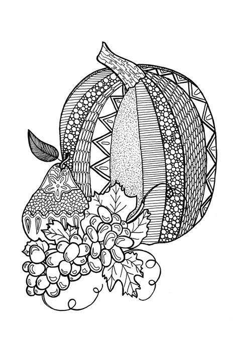 pumpkin coloring page for adults textured pumpkin adult coloring page allfreepapercrafts com
